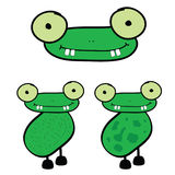 Frog cartoon vector art illustration Royalty Free Stock Photo