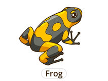 Frog cartoon vector illustration Royalty Free Stock Photos