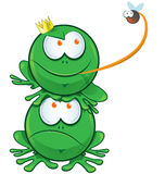 Frog cartoon Stock Image