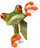 Frog and champagne Stock Image