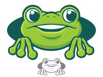 Frog Character Icon Royalty Free Stock Photo