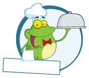 Frog chef  logo Royalty Free Stock Image