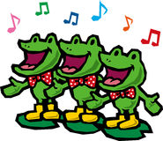 Frog chorus. Chorus of frogs that note is studded Royalty Free Stock Photos