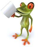 Frog with a coffee mug Royalty Free Stock Image