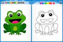 Frog coloring page royalty free illustration
