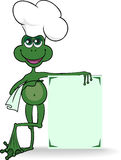 Frog cook. Frog in a cook's hat specifies a large poster stock illustration