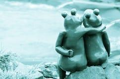 Frog couple Stock Photo
