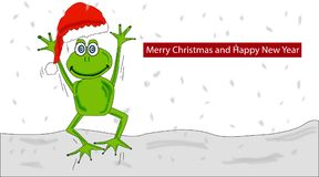 Christmas frog vector illustration