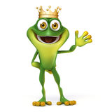 Frog with crown Stock Photography
