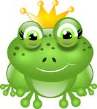 Frog with crown Royalty Free Stock Photography