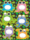 Frog Cute Set Stock Image