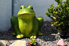 Frog. Decorative ply frog - an ornament for a park or pond royalty free stock photography