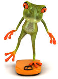 Frog on a diet. Cute little frog, 3D generated picture Stock Photography