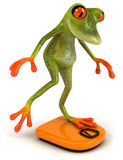Frog on a diet. Cute little frog, 3D generated picture Royalty Free Stock Image