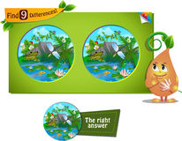 Frog, dragonfly 9 differences Royalty Free Stock Photography