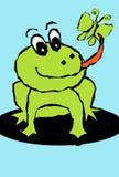 Frog eat Royalty Free Stock Image