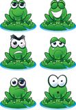 Frog Emoticon Set stock photo