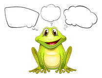 A frog with empty callouts Stock Photo