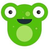 Frog face in cartoon flat style stock illustration