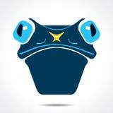 Frog face icon illustration Stock Photos