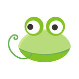 Frog Face Vector Illustration in Flat Design Royalty Free Stock Image