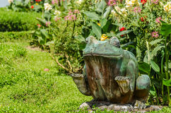 frog figur in garden complex royalty free stock photography