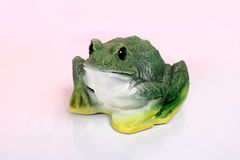 Frog Figurine on White Background Stock Photo
