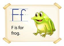 Frog flashcard stock illustration