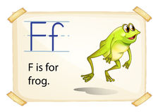 Frog flashcard Royalty Free Stock Images