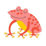 Frog. Flat cartoon vector illustration Stock Images