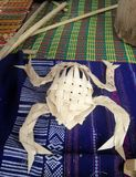 Frog folk artbmade from bamboo basketry Stock Photo