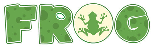 Frog font text with mascot icon Stock Photography