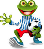 Frog football player Royalty Free Stock Images