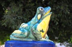 Frog fountain Stock Photos