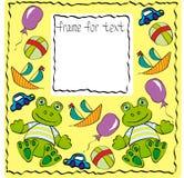 Frog frame Stock Image