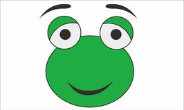 Frog funny cartoon. This is a logo or template mouth cartoon often called in the designer`s , this photo is made by way trace of sketches that are already making Stock Image