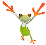 Frog gardener Stock Photo