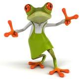 Frog gardener Stock Images