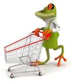Frog gardener Stock Image