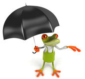 Frog gardener Royalty Free Stock Photography