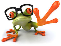 Frog with glasses Royalty Free Stock Image