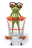 Frog with glasses Stock Image