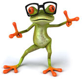 Frog with glasses Royalty Free Stock Photo
