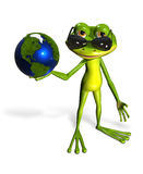 Frog and globe Royalty Free Stock Images
