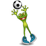 Frog Goalkeeper Royalty Free Stock Photography