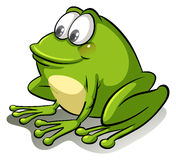 A frog going with the flow Stock Image