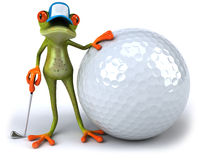 Frog and golf Royalty Free Stock Images