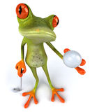 Frog and golf Stock Photo