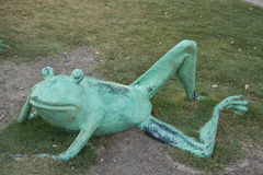 Frog in grass Stock Photo