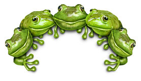 Frog Group Sign Stock Images